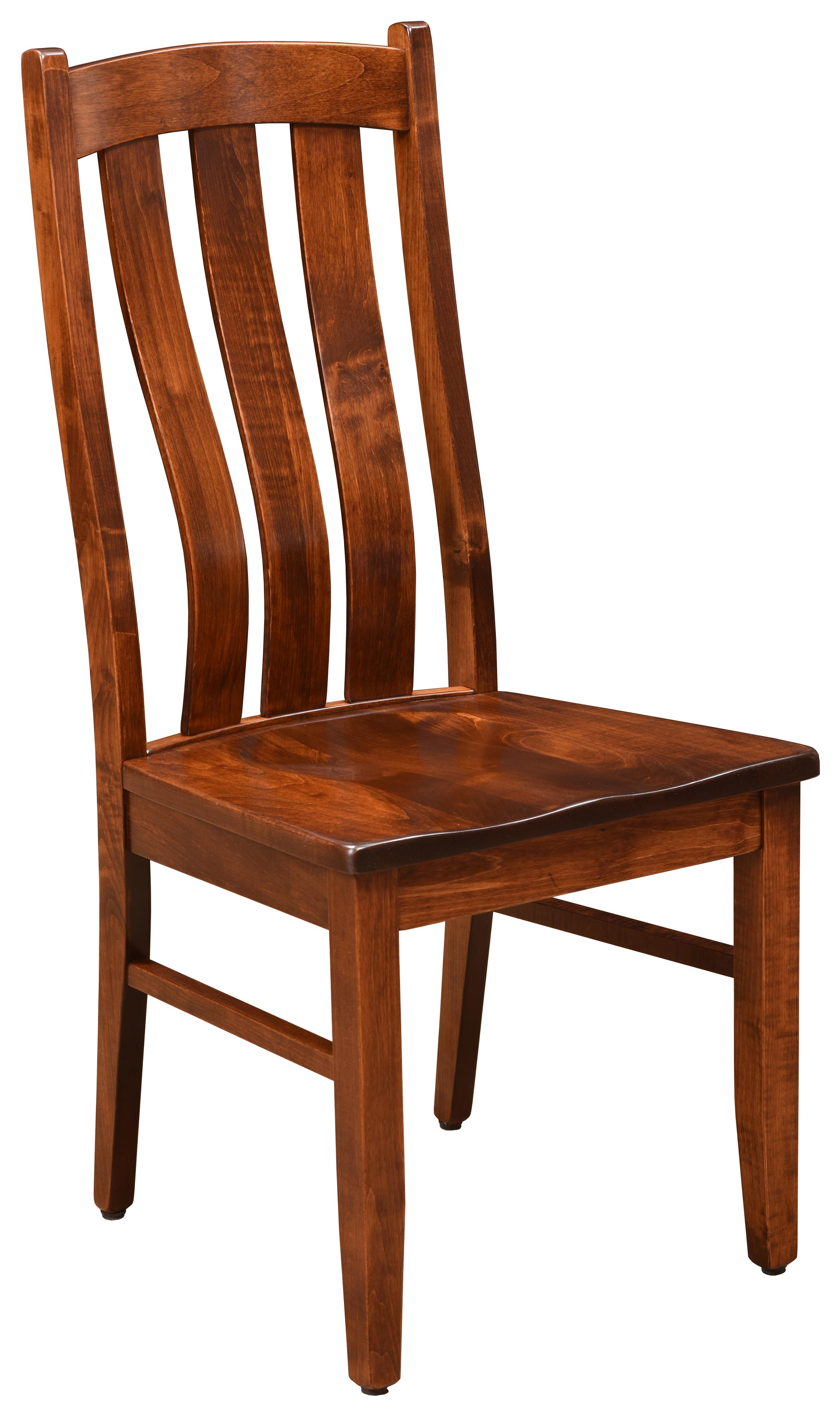 Arlington <b>Customizable</b> Side Chair by Trailway Amish Wood at Rooms and Rest