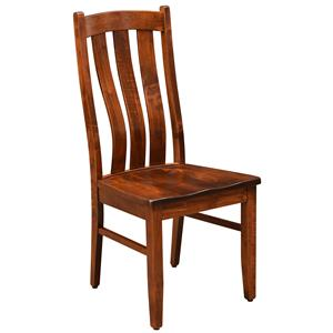 Customizable Solid Wood Side Chair