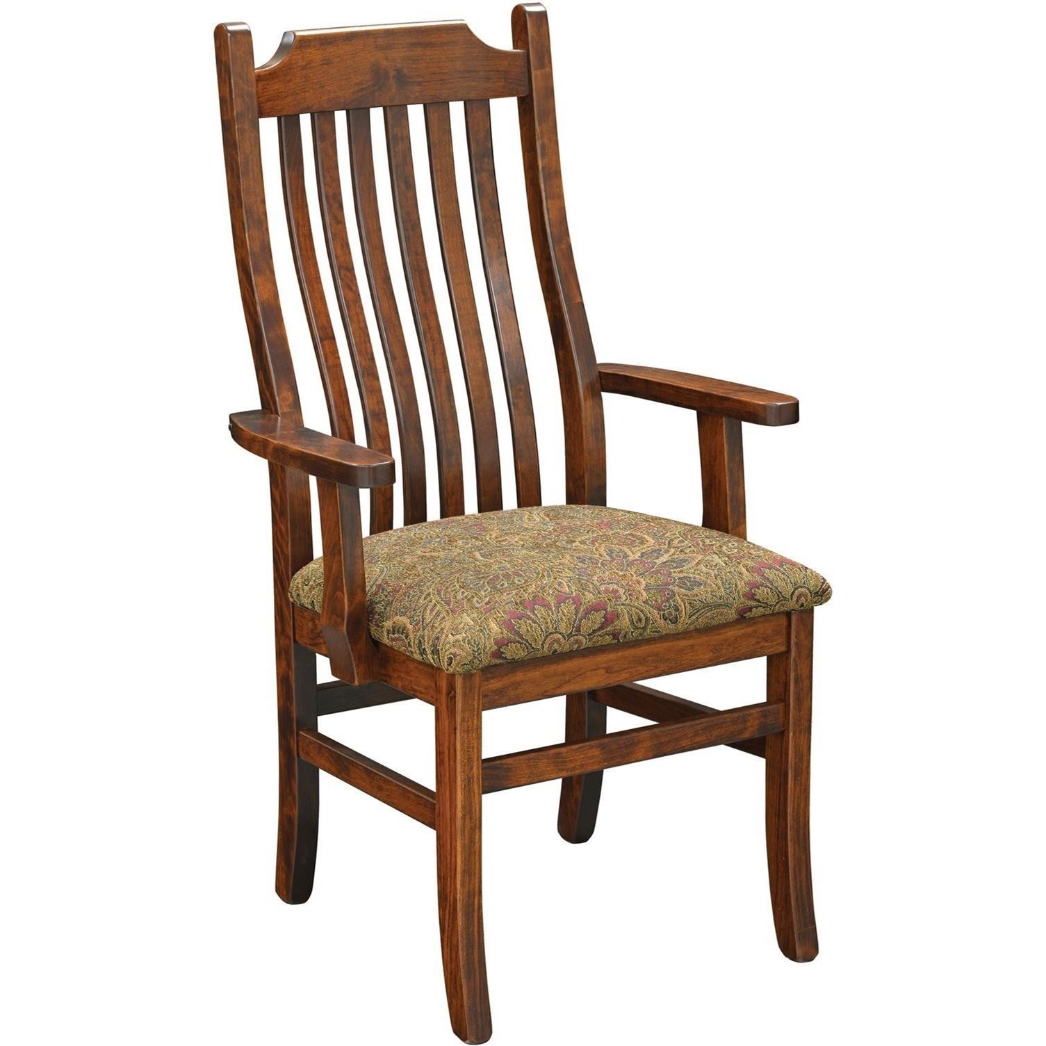 Easton Pike Arm Chair by Trailway Amish Wood at Rooms and Rest