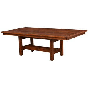 "48 x 72"" Trestle Dining Table with 1 Leaf"