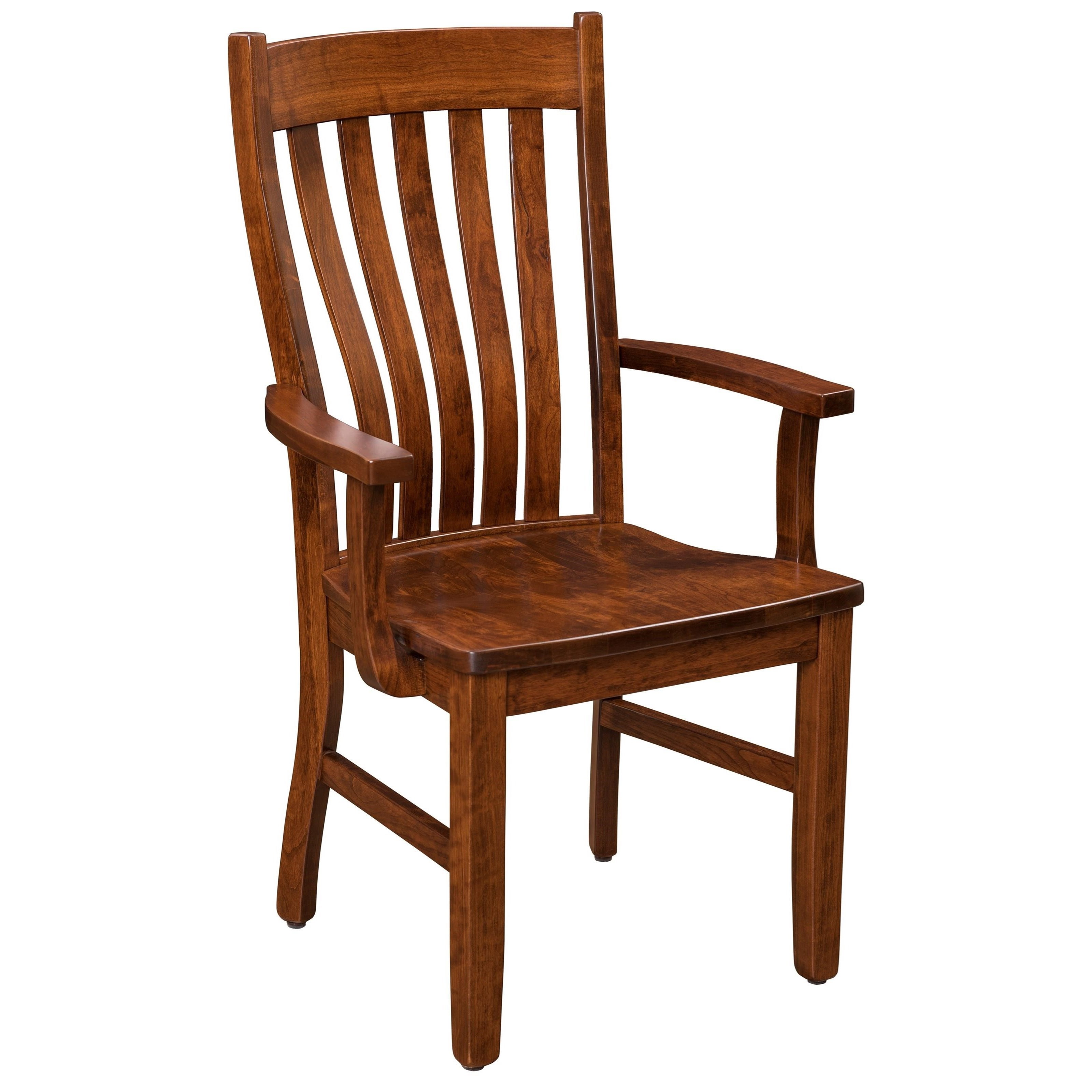 Sutter Mills Arm Chair by Trailway Amish Wood at Rooms and Rest