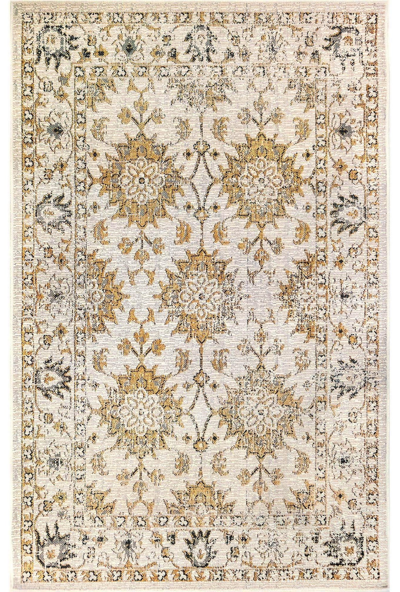 """Caramel Floral Indoor/Outdoor 4'10"""" X 7'6"""" Rug by Trans-Ocean Rugs at Johnny Janosik"""
