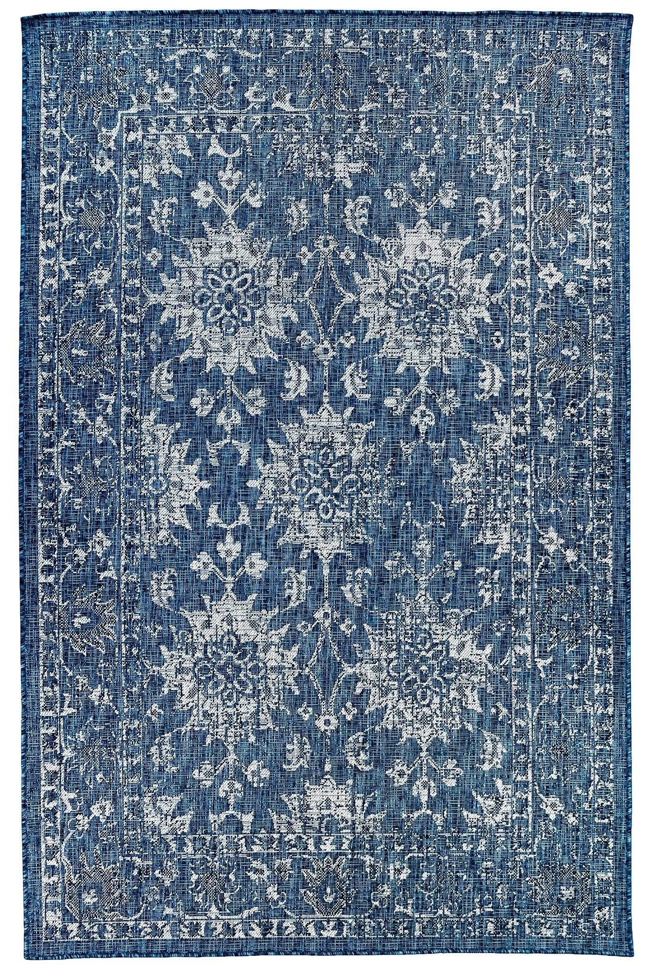 """Caramel Vintage Floral Indoor/Outdoor 4'10"""" X 7'6"""" R by Trans-Ocean Rugs at Johnny Janosik"""