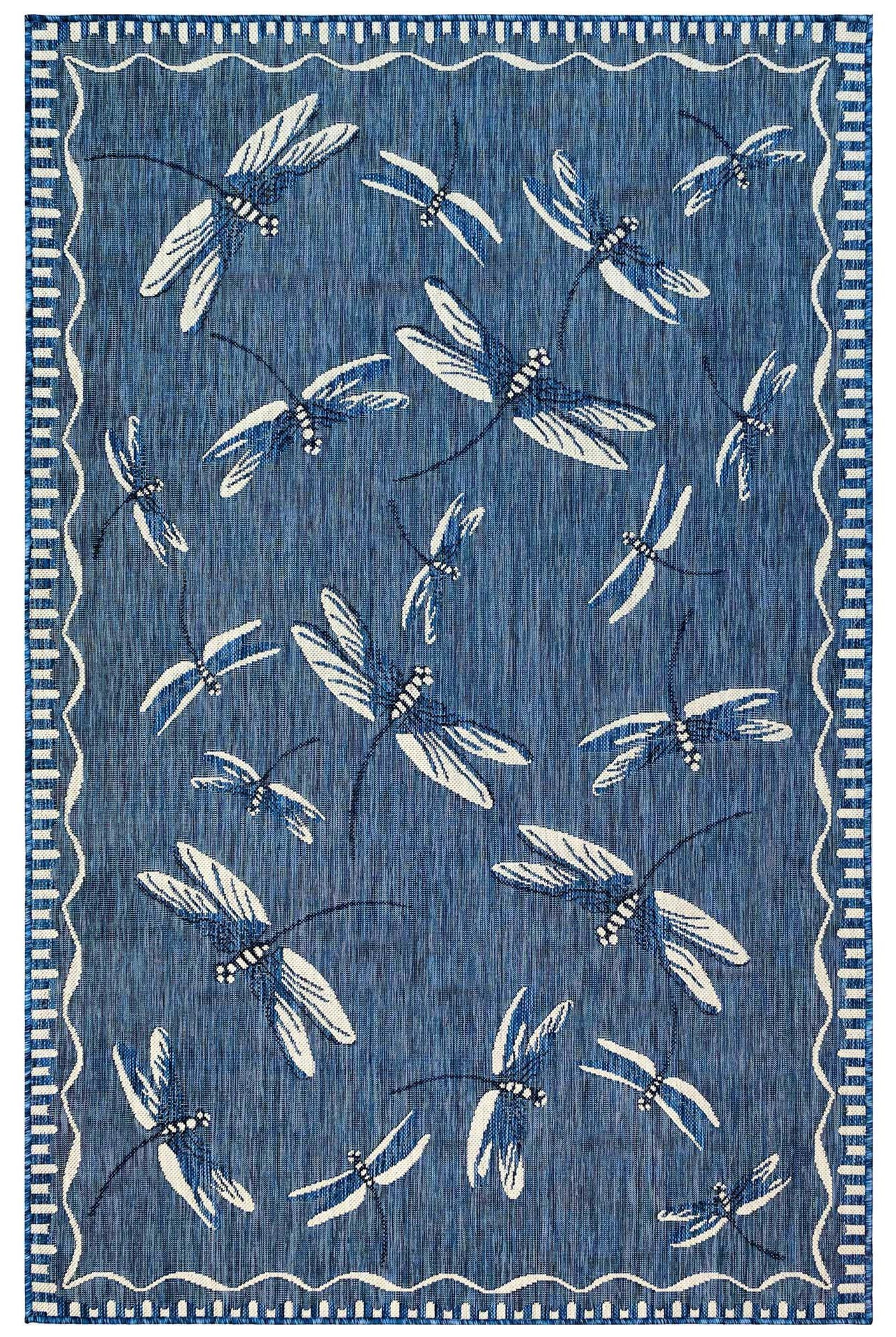 """Caramel Dragonfly Indoor/Outdoor 4'10"""" X 7'6"""" Rug by Trans-Ocean Rugs at Johnny Janosik"""