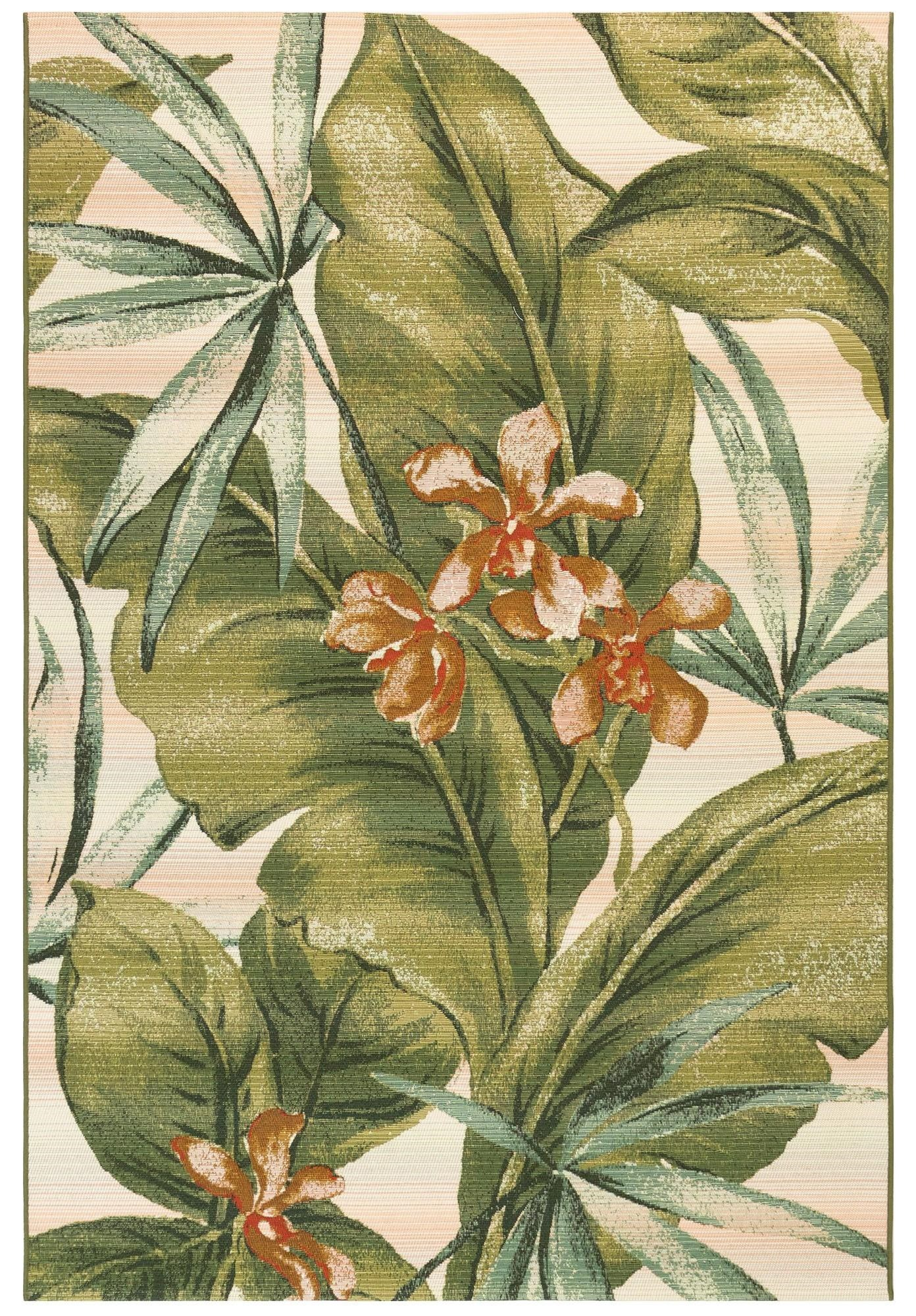 """Marina Tropical Leaf Indoor/Outdoor 4'10"""" X 7'6"""" Ru by Trans-Ocean Rugs at Johnny Janosik"""
