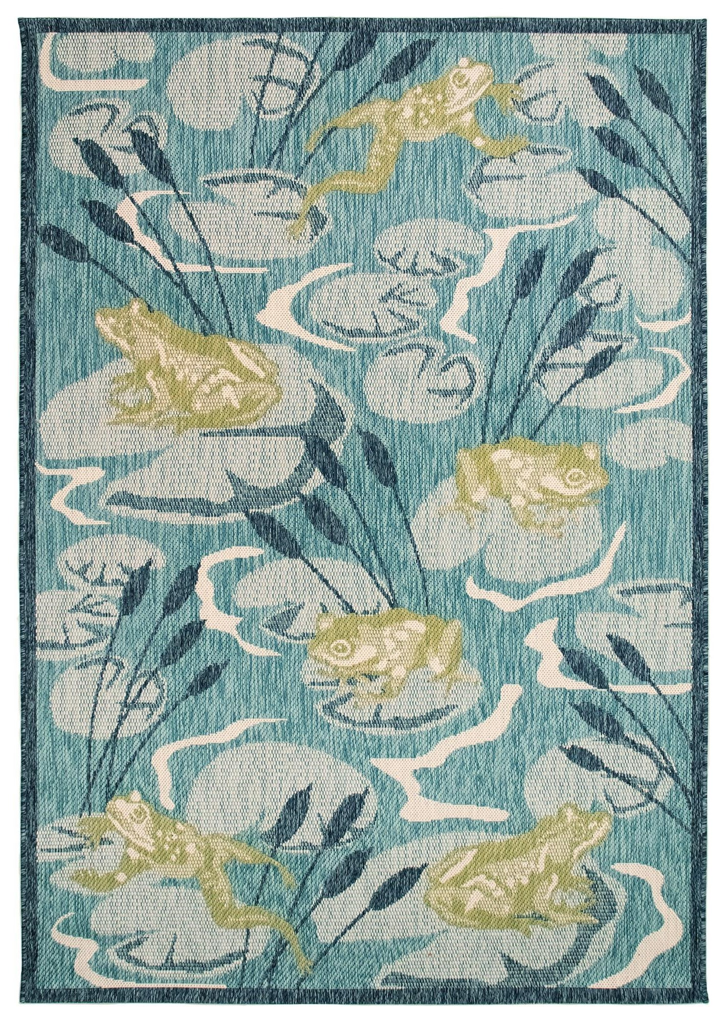 """Portofino Frog Pond Indoor/Outdoor Rug 4'10"""" X 7'6"""" by Trans-Ocean Rugs at Johnny Janosik"""