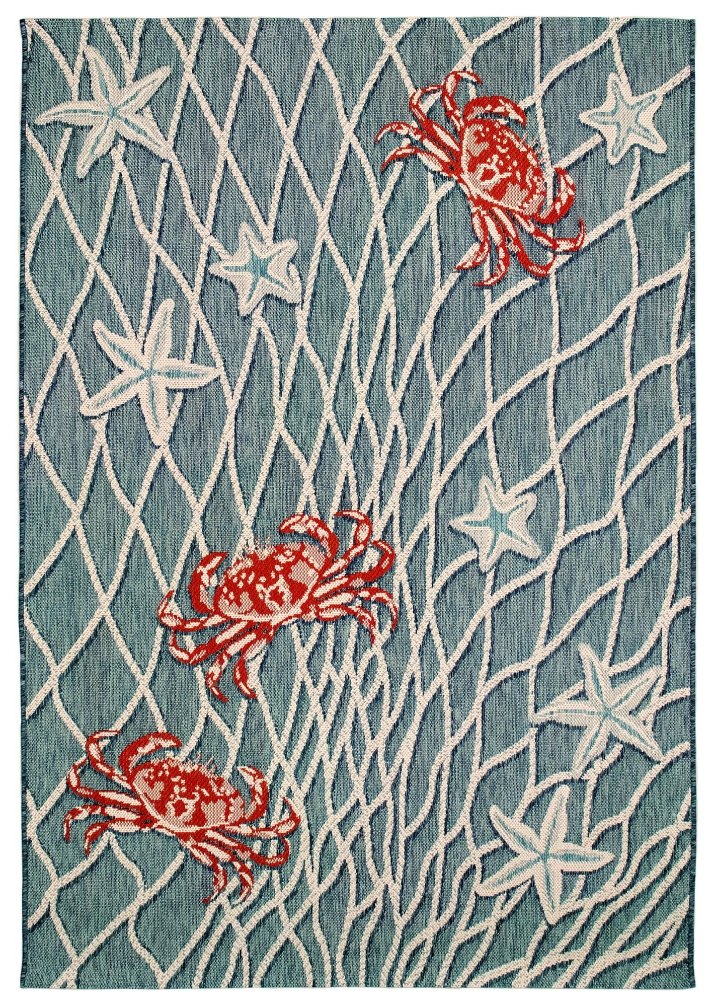 "Portofino Crab Net Indoor/Outdoor 4'10"" X 7'6"" Rug by Trans-Ocean Rugs at Johnny Janosik"