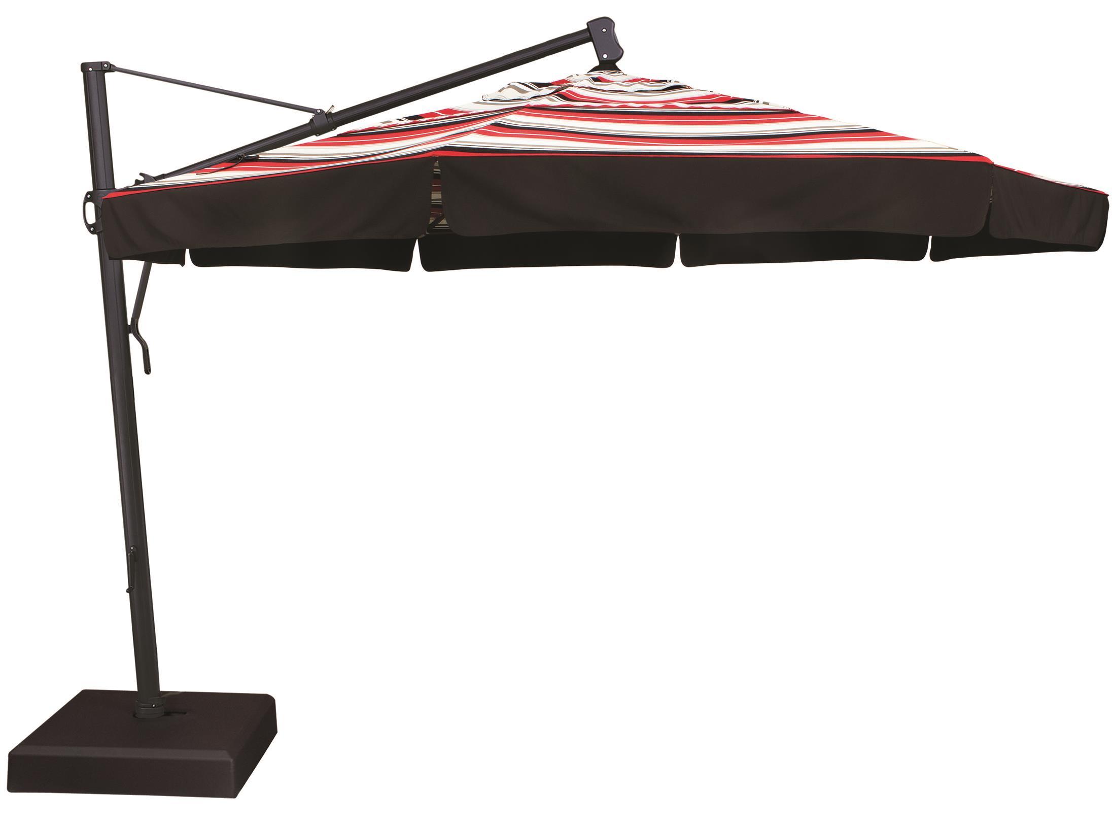 Cantilever Umbrellas 11' Cantilever Umbrella by Treasure Garden at Esprit Decor Home Furnishings