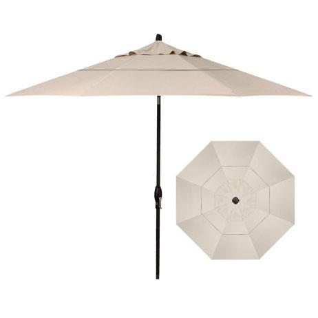 Market Umbrellas 11' Auto Tilt Market Umbrella by Treasure Garden at Esprit Decor Home Furnishings
