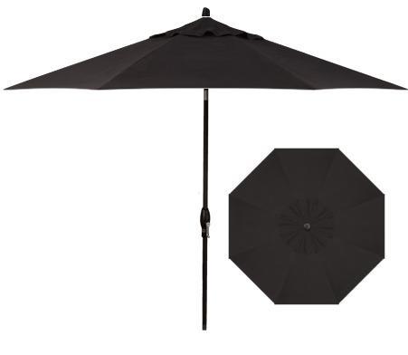 Market Umbrellas 11' Auto Tilt Market Umbrella by Treasure Garden at Esprit Decor Home Furnishings