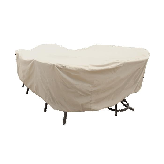 Outdoor Covers Extra Large Oval/Rectangle Table & Chairs by Treasure Garden at Johnny Janosik