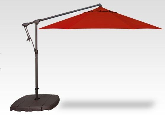 Umbrellas 10' Octagon Cantilever W/Base and 200LB Sand by Treasure Garden at Johnny Janosik