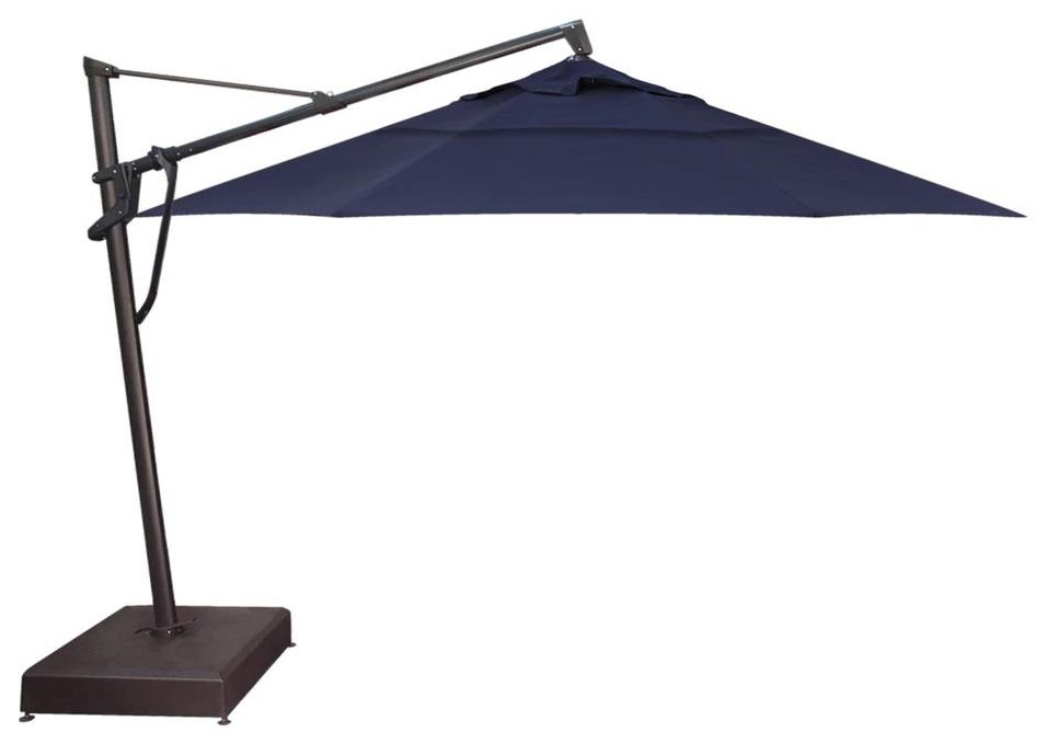 Umbrellas 13' Starlux, Rolling Base, Battery, 200LB Sa by Treasure Garden at Johnny Janosik