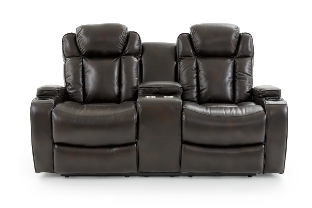 69085 Dual Power Console Loveseat by Trend Resources International at Baer's Furniture