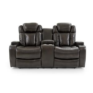 Dual Power Console Loveseat with Power Headrests
