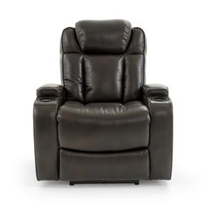 Power Recliner with Power Headrest and Storage Arms