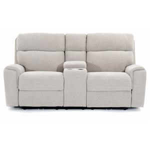 Power Motion Loveseat with Storage Console