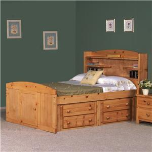 Full Palomino Bed w/ Four Drawer Storage