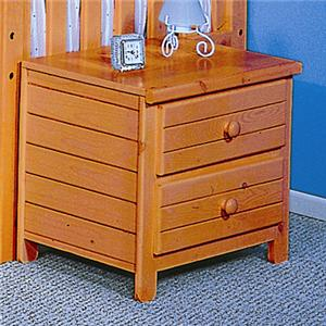 """20"""" Two Drawer Nightstand"""