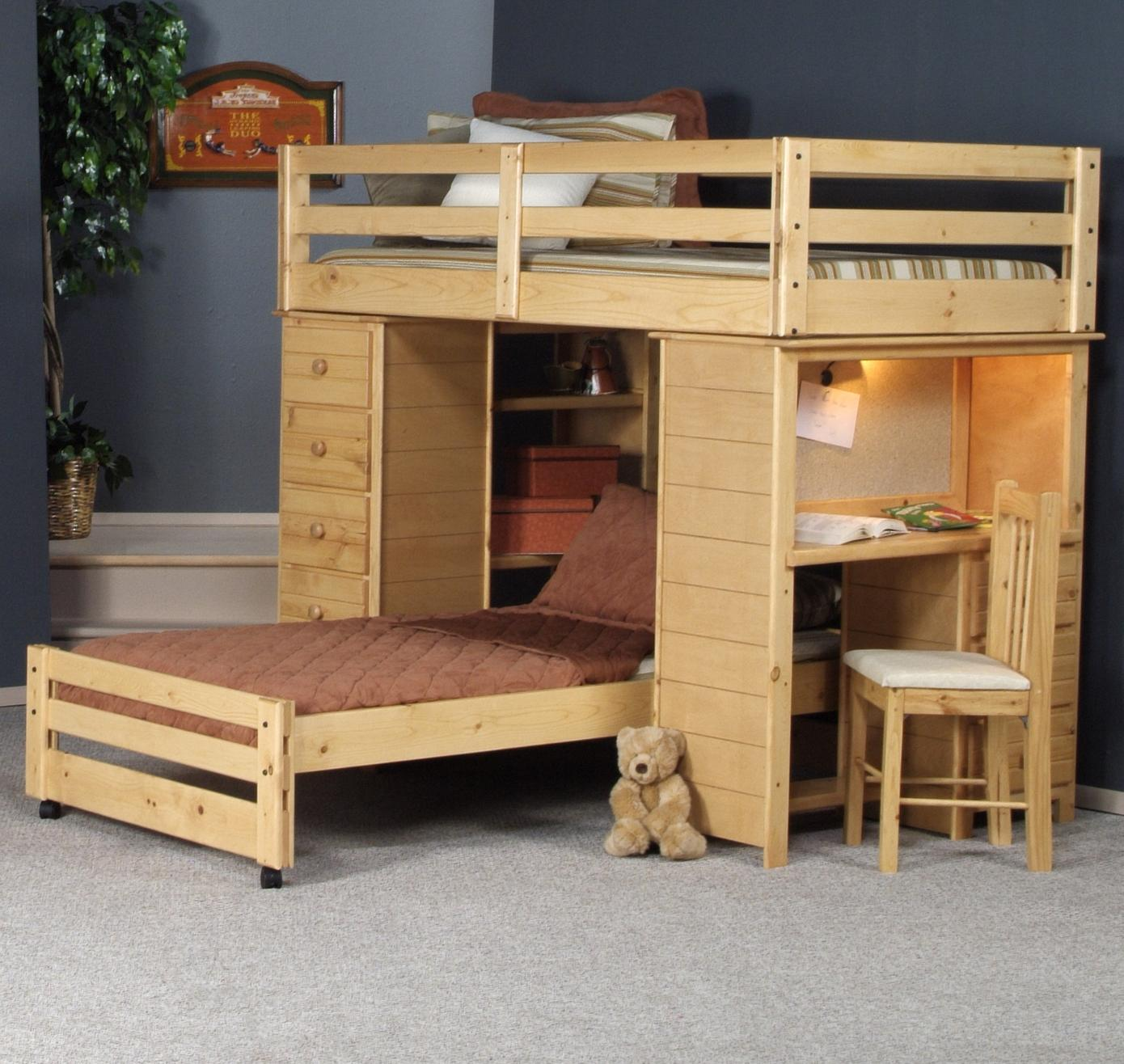 Bayview Twin/Twin Loft Bed by Trendwood at Wilson's Furniture