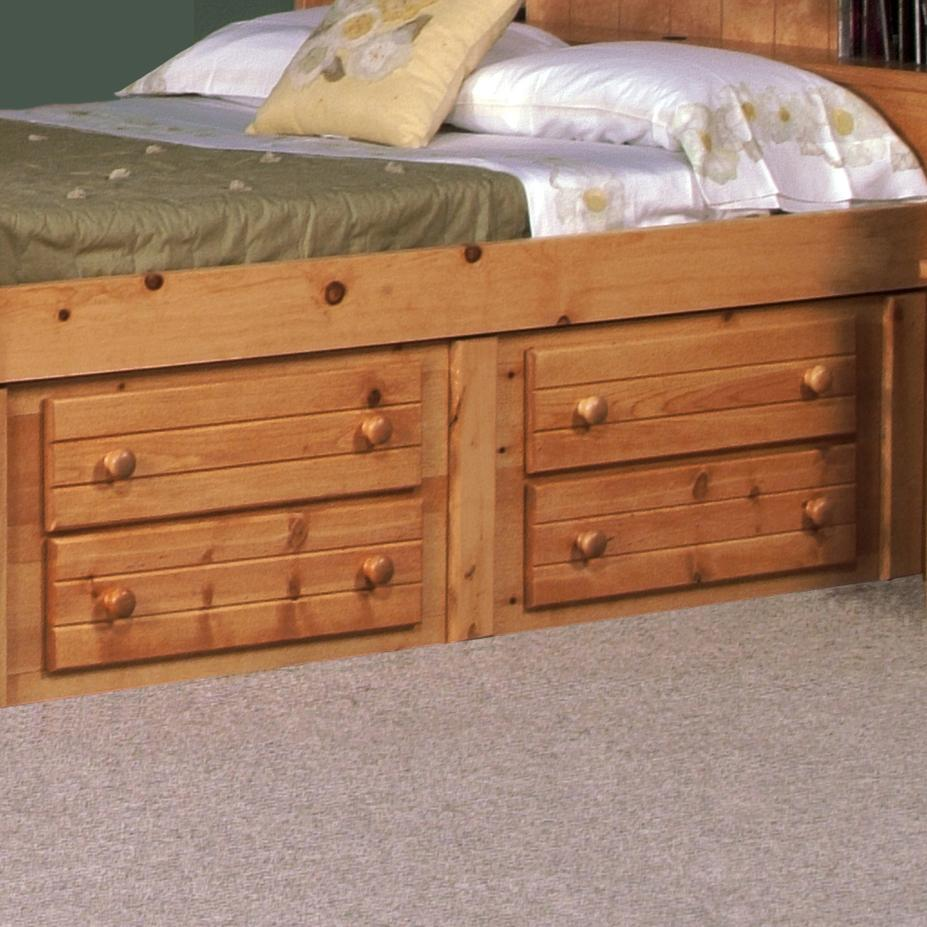 Bayview Four Drawer Underdresser at Sadler's Home Furnishings