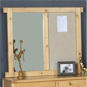 Landscape Mirror with Cork Board