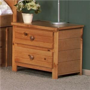 """48"""" Two Drawer Nightstand"""
