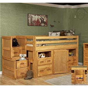 Junior Loft Bed with Super Dresser Storage