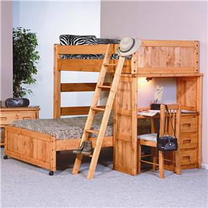 Trendwood Bunkhouse Twin / Full Roundup Loft Bed