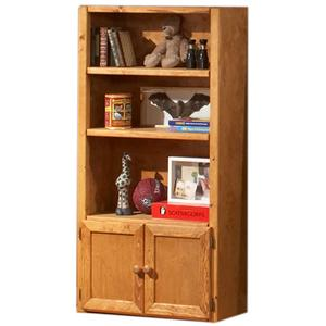 Universal Bookcase with 3 Shelves & 2 Doors