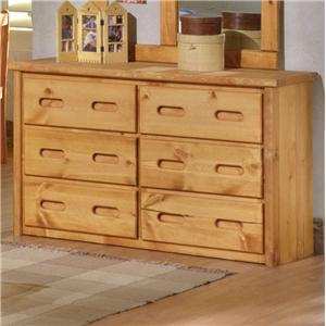 Trendwood Bunkhouse 6 Drawer Dresser