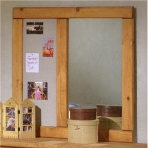 Landscape Mirror with Corkboard