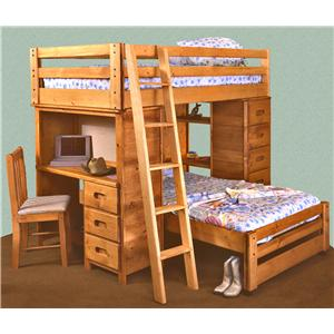 Trendwood Bunkhouse Twin/Twin Bronco Loft Bed