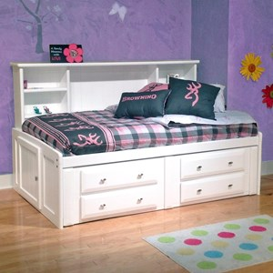 Twin Roomsaver Bed with Four Drawer Underdresser