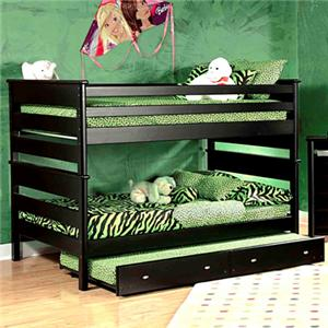 Full/Full Bunk Bed w/ Trundle