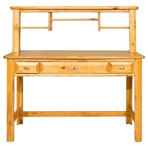 Three Drawer Student Desk with Hutch