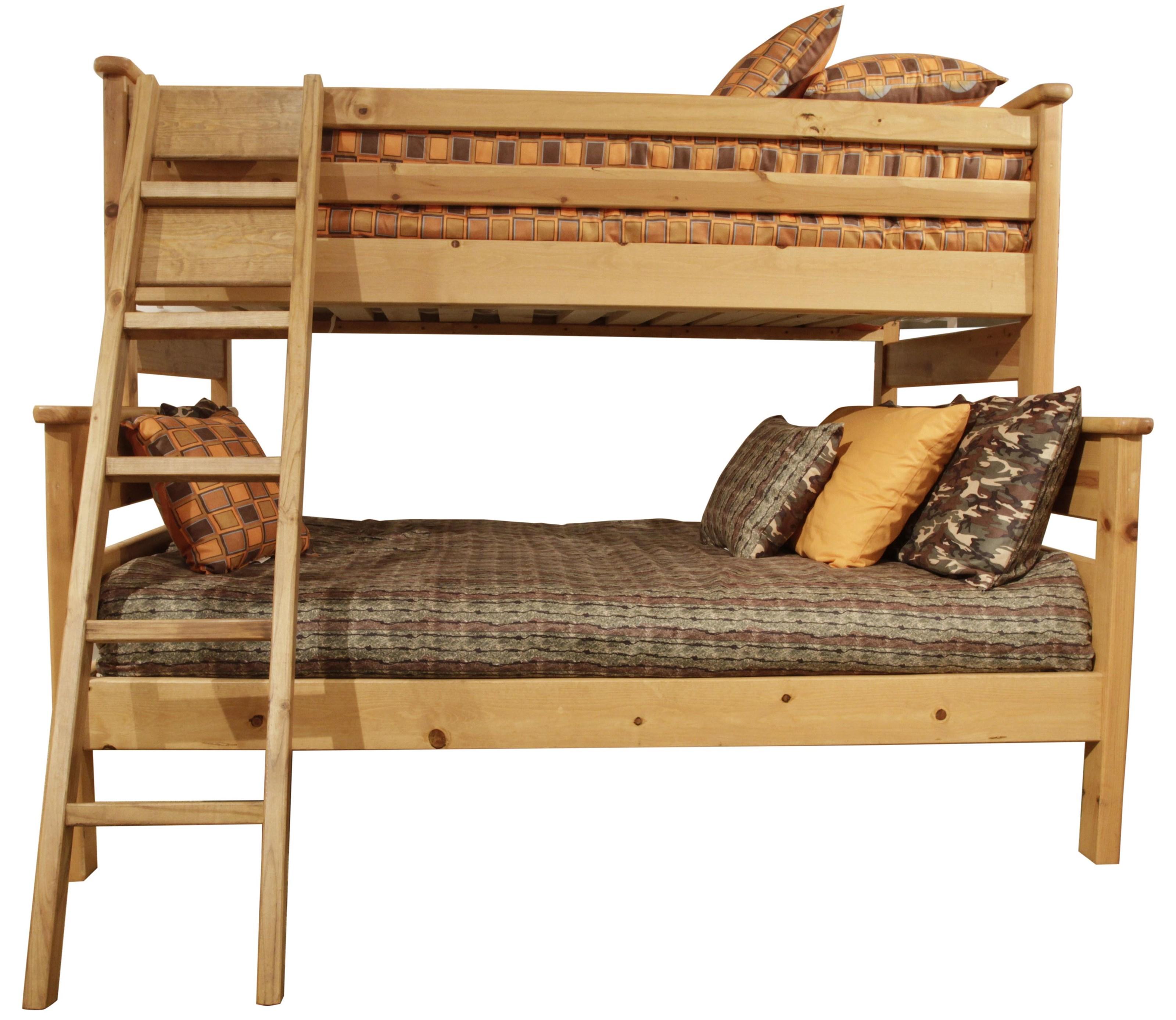 Laguna  Twin/Full Bunk Bed by Trendwood at HomeWorld Furniture
