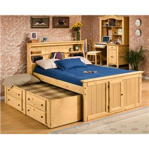Trendwood Sedona  Twin Bookcase Bed