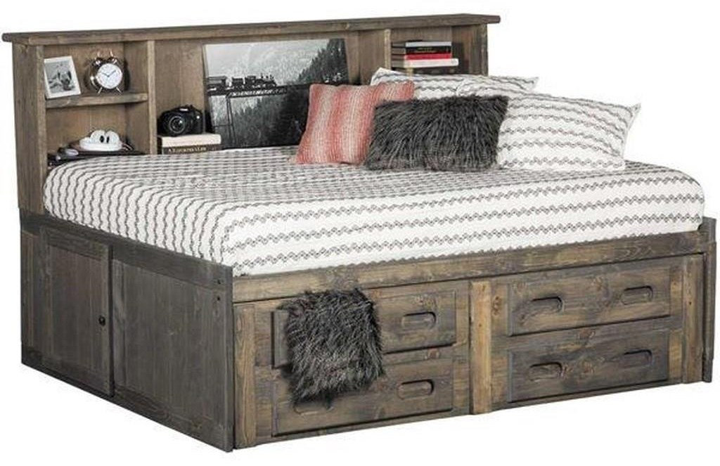 Sedona Twin Cheyenne Storage Bed Package by Trendwood at Sam Levitz Outlet