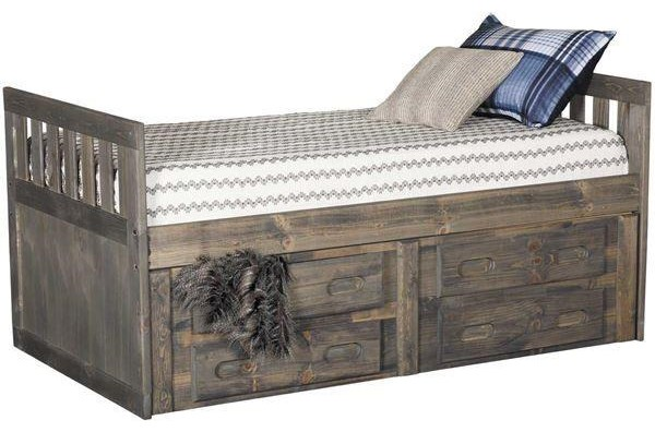 Twin Captain's Bed with Storage Package