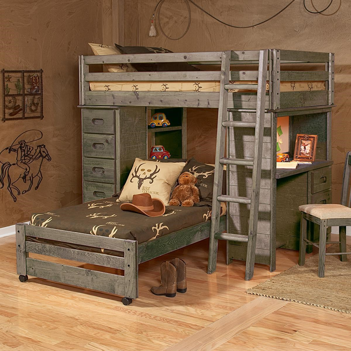 Sedona Twin Loft Bed by Trendwood at Sam Levitz Furniture