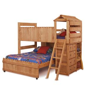 Twin/Full Complete Loft Fort Bed with Ladder