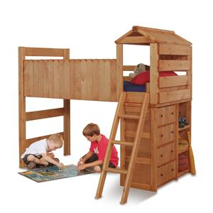 Twin Open Loft Fort Bed