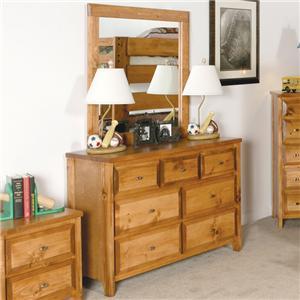 Trendwood Visions 7 Drawer Dresser with Landscape Mirror