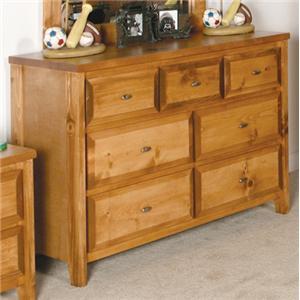 Trendwood Visions 7 Drawer Dresser