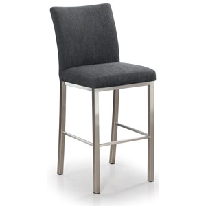 Biscaro Upholstered Stationary Bar Stool