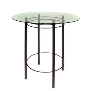 Astro Round Table with Glass Top