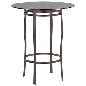 Bourbon Round Pedstal Table with Glass Insert