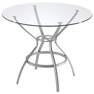 Rome Round Table with Glass Top