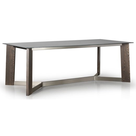 Contemporary Tables Dining Room Table by Trica at Jordan's Home Furnishings